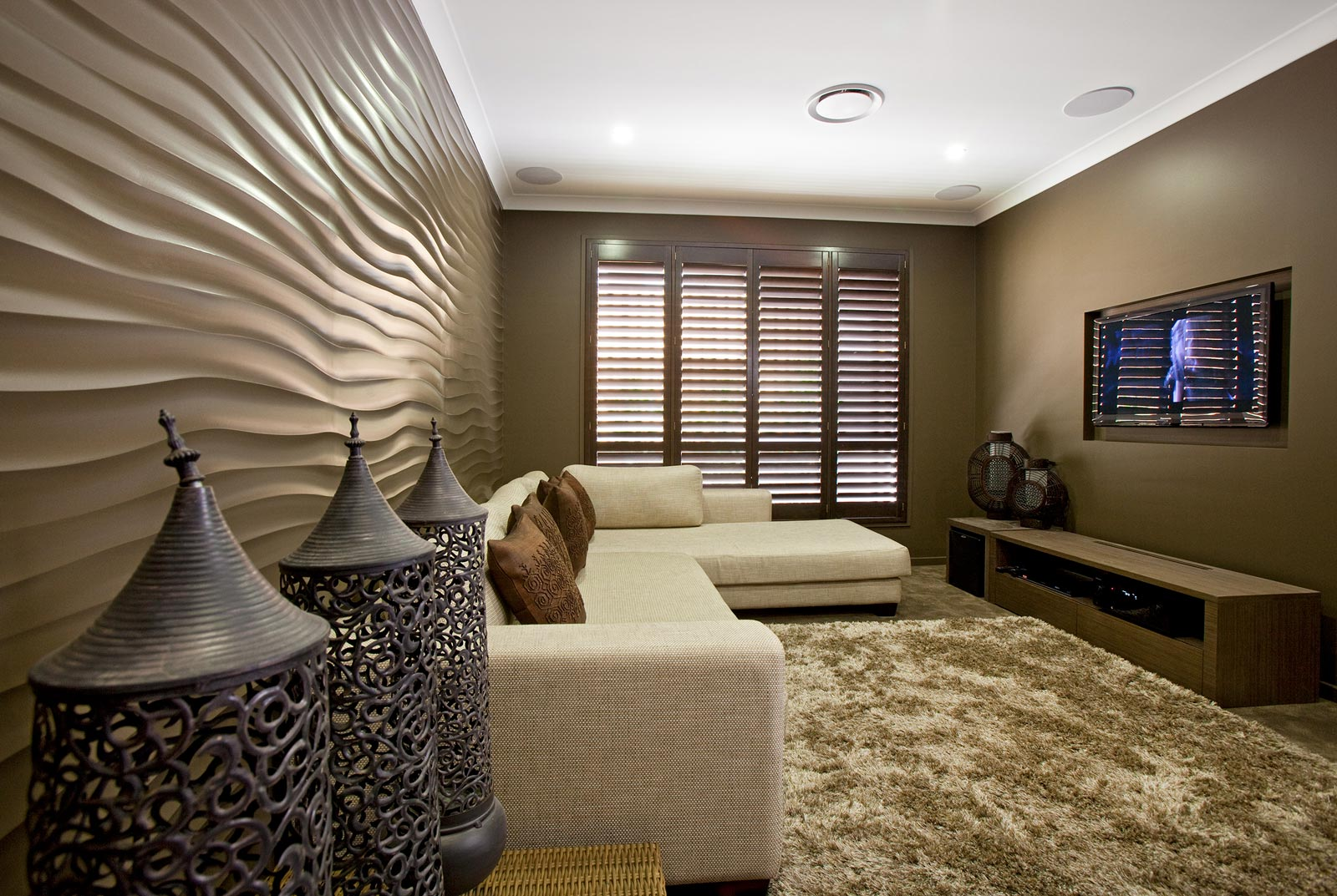 living room australia tips for transforming your walls using textured cladding 11482